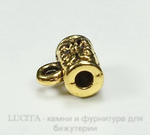Бейл 7х4 мм (цвет - античное золото) ()