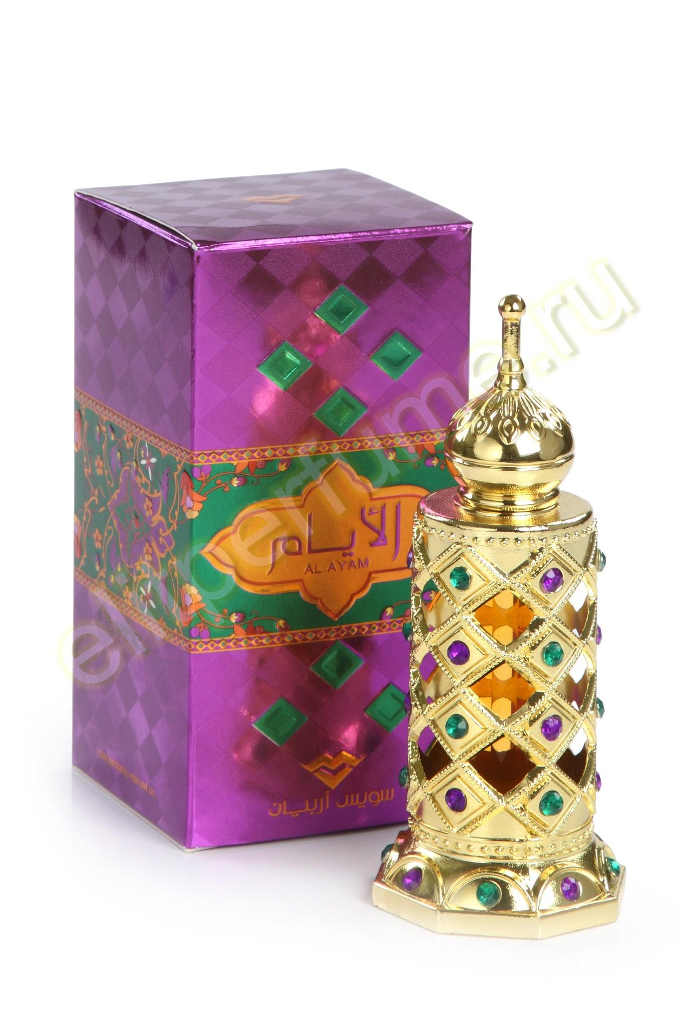 AL ayam Аль-Айам 15 мл арабские масляные духи от Свисс Арабиан Swiss Arabian