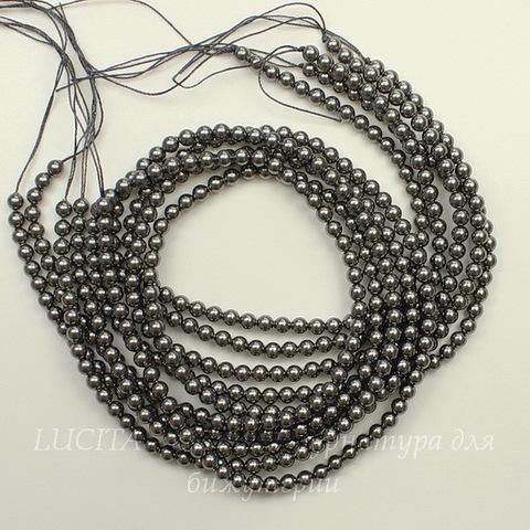 5810 Хрустальный жемчуг Сваровски Crystal Dark Grey круглый 4 мм, 10 шт