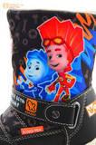 Зимние сапоги для мальчиков с мембраной KINGTEX Фиксики на молнии, цвет черный. Изображение 13 из 19.