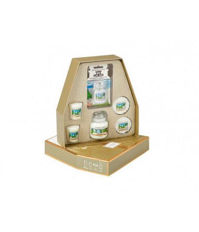 Подарочный набор чистый хлопок Праздничное сияние, Yankee Candle