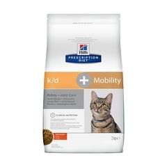Hill's Prescription Diet k/d, Mobility Kidney, Joint Care сухой диетический корм для кошек для поддержания здоровье почек и суставов