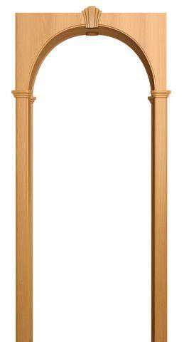 Арка межкомнатная ПВХ Лесма, Милано, цвет миланский орех
