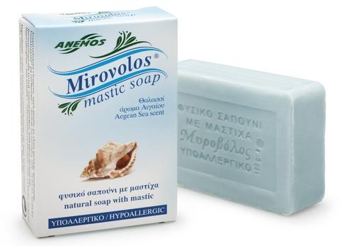 Натуральное мыло с мастикой и ароматом эгейского моря Mirovolos от Anemos 100 гр