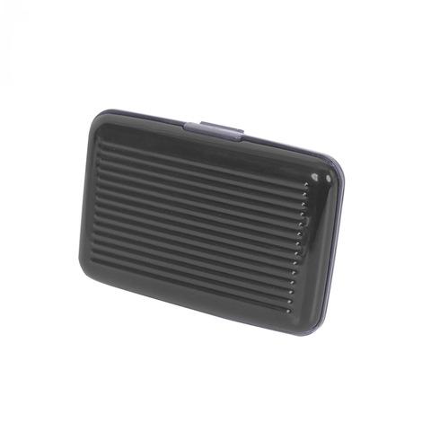 Кредитница защитная алюминивая для кредитных карт Security Credit Card Wallet чёрный