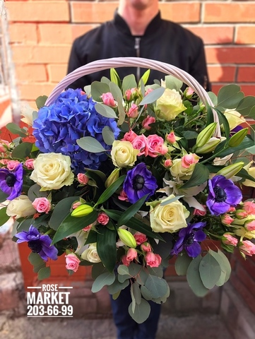 Цветы в корзинке #1803