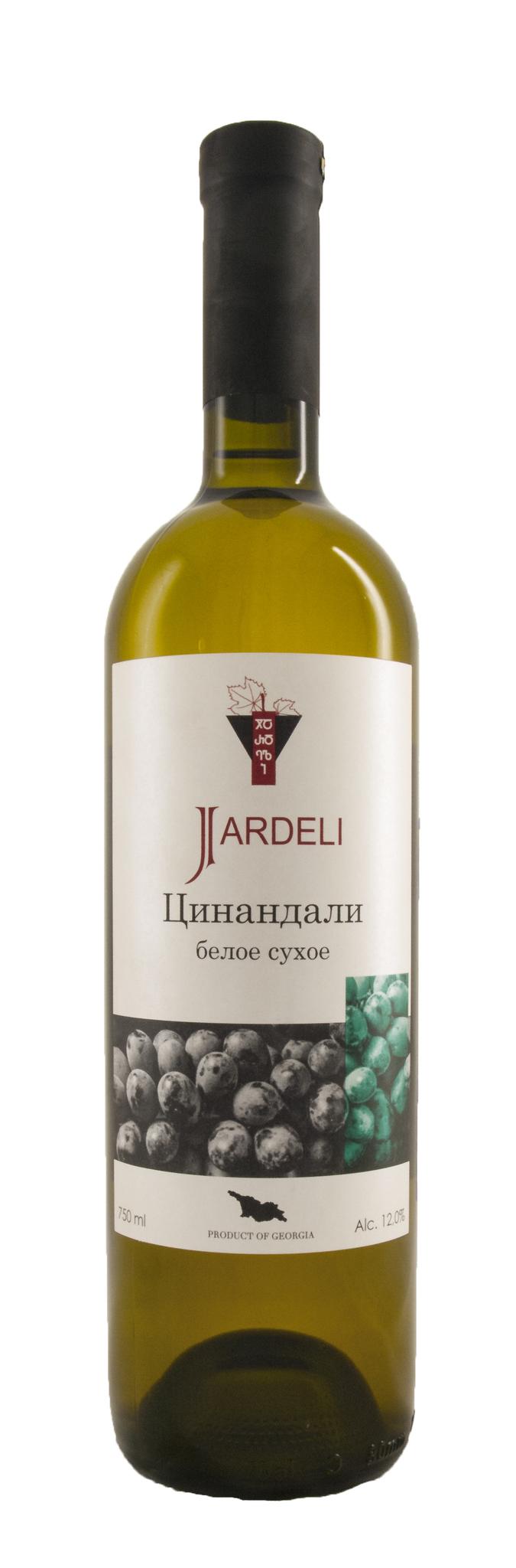Вино Цинандали защищ. наимен. места происхож. белое сухое рег.Кахетия серия