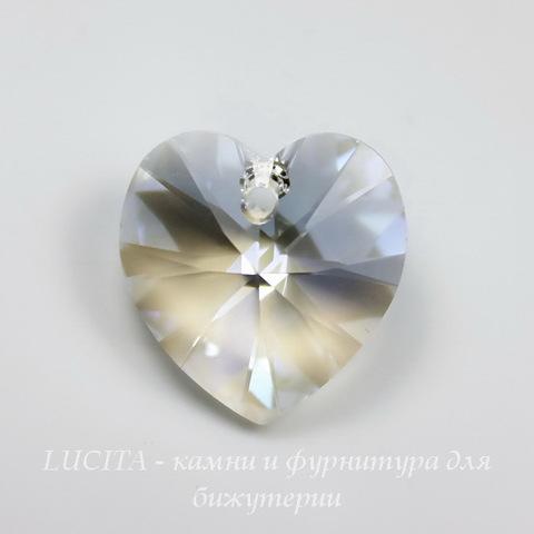 6202/6228 Подвеска Сваровски Сердечко Crystal Moonlight (14,4х14 мм)