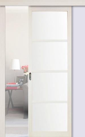 Перегородка межкомнатная Optima Porte 104.2222, стекло матовое, цвет беленый дуб, остекленная (за 1 кв.м)