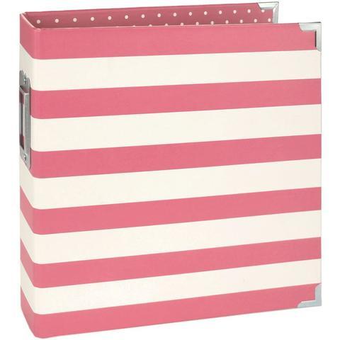 Альбом на кольцах для Life Project 15x20 см -Pink Stripe