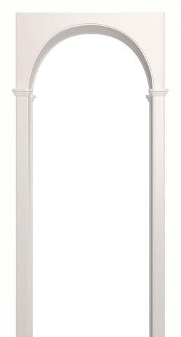 Арка межкомнатная ПВХ Лесма, Милано, цвет белая эмаль