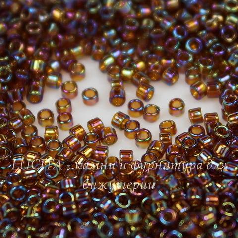 0177 Бисер японский TOHO Treasure (цилиндр) 11/0, радужный дымчатый топаз