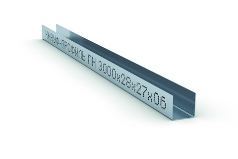 Потолочный профиль направляющий Кнауф  28х27х3000 мм 0,6 мм