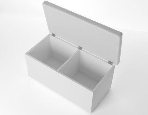 Пуф Орматек Como/Veda двухместный с ящиком (Эко-кожа ЛДПС)