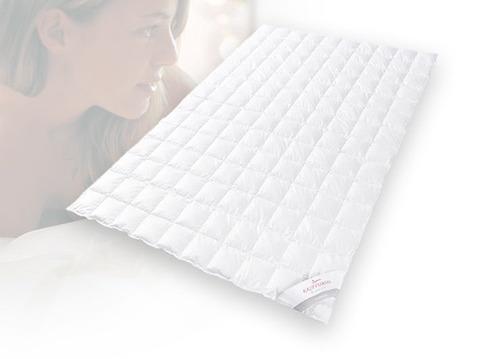 Одеяло пуховое лёгкое 180х200 Kauffmann Премиум Тенсел Сильвер Протекшн