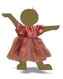 Платье из тафты - Демонстрационный образец. Одежда для кукол, пупсов и мягких игрушек.