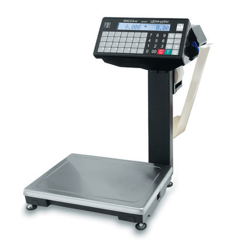 Весы печатающие фасовочные Масса-К ВПМ-Ф с устройством подмотки ленты 001