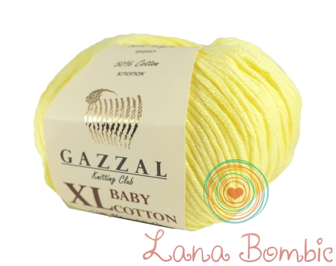 Пряжа Gazzal Baby Cotton XL светло-желтый 3413