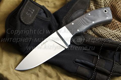 Туристический нож Соболь Полированный Микарта
