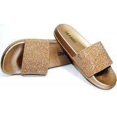 Шлепанцы для золушки J.B.P. Shoes NU25 Gold.