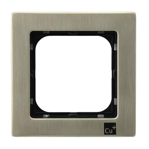 Рамка на 1 пост. Цвет Медь (Новое серебро). Ospel. Sonata. R-1RM/44