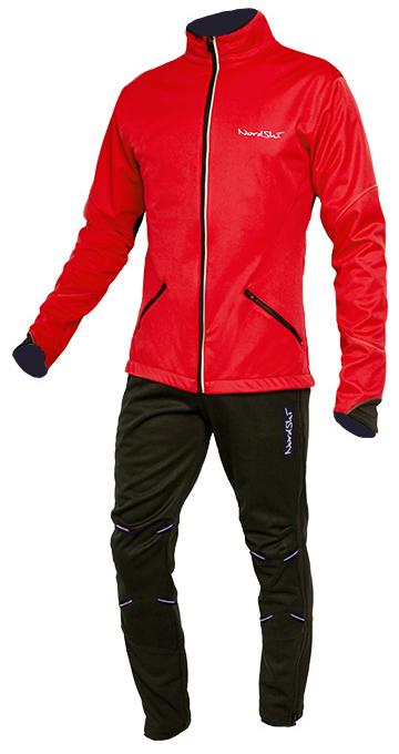 Мужской утепленный лыжный костюм Nordski Premium (NSM300900) красный