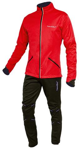 NORDSKI PREMIUM мужской разминочный лыжный костюм красный