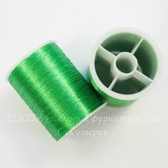 Нить металлизированная для вышивки бисером, 0,1 мм, цвет - лаймовый, примерно 55 м