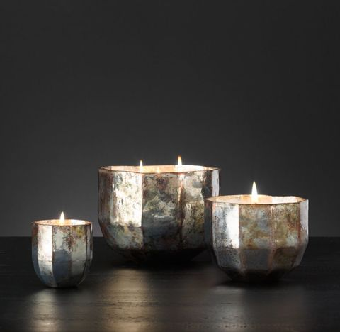 Mercury Glass Luxury Candle Collection - Silver/Valencia Bergamot