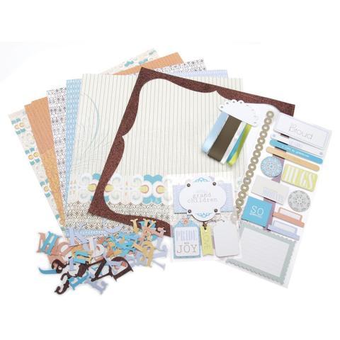 Набор бумаги с украшениями Me & My Big Ideas Page Kit- 30х30см -My Grandchildren