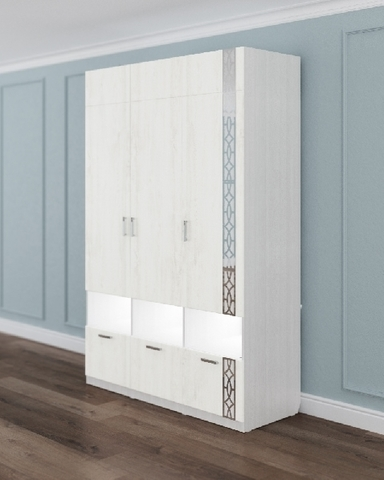 Шкаф трехдверный ЛИТАУ рамух