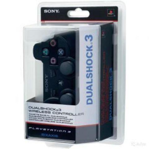 PS3 Контроллер игровой беспроводной (черный, копия)