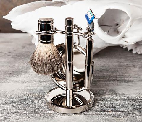 Набор для бритья: чаша, помазок, безопасная бритва