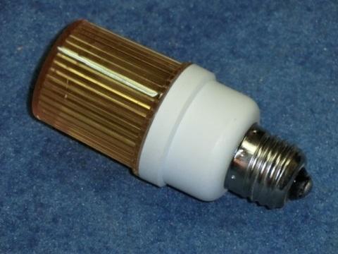 Строб лампа желтая Е27