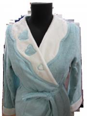 МОНИКА СЕРДЕЧКИ- MONIQUE KALPLI  женский махровый халат  Maison Dor Турция