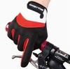 Велосипедные перчатки Wolfbike длинные (красные)