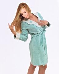 МОНИКА БАБОЧКИ - MONIQUE KELEBEK  женский махровый халат с тапочками Maison Dor Турция
