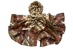 Парео коричневое с леопардовым принтом 0301