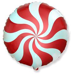 Шар F (18''/46 см) Круг Карамель (красный) / Candy Red, 1 шт.