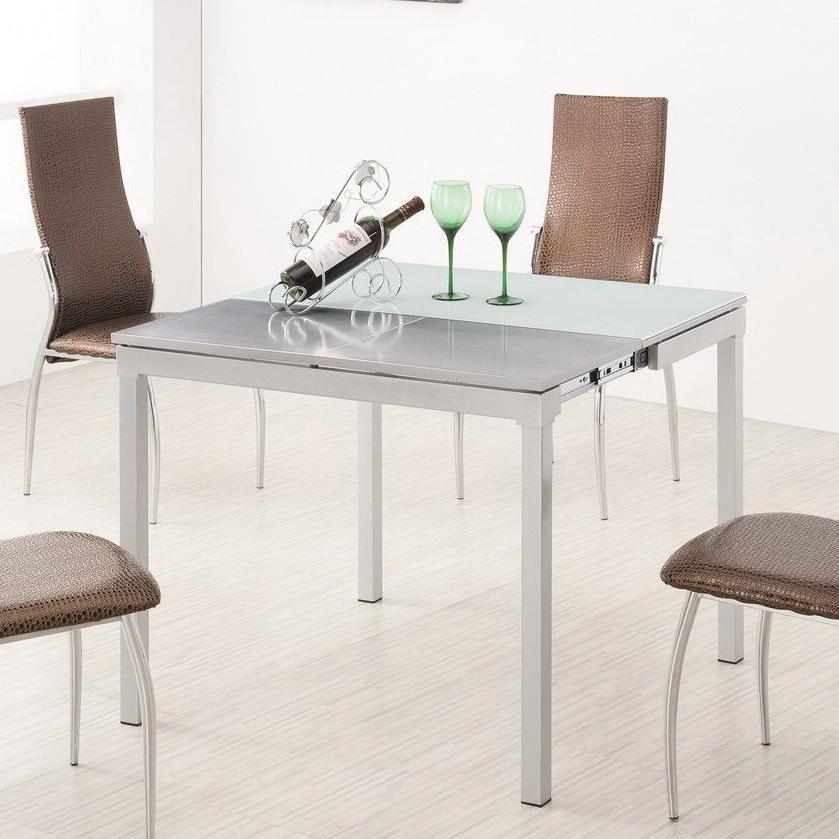 Стол ESF LT4002 белый, стулья ESF L23