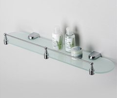 Полка в ванную WasserKRAFT Berkel K-6844 стеклянная с бортиком