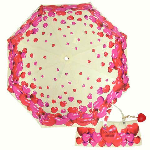 Купить онлайн Зонт складной Moschino Boutique 7275-I-RUBBER HERTS в магазине Зонтофф.