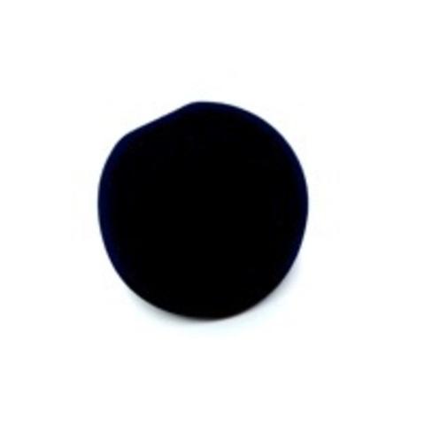 Бархатная, подарочная круглая коробка под серьги, черная