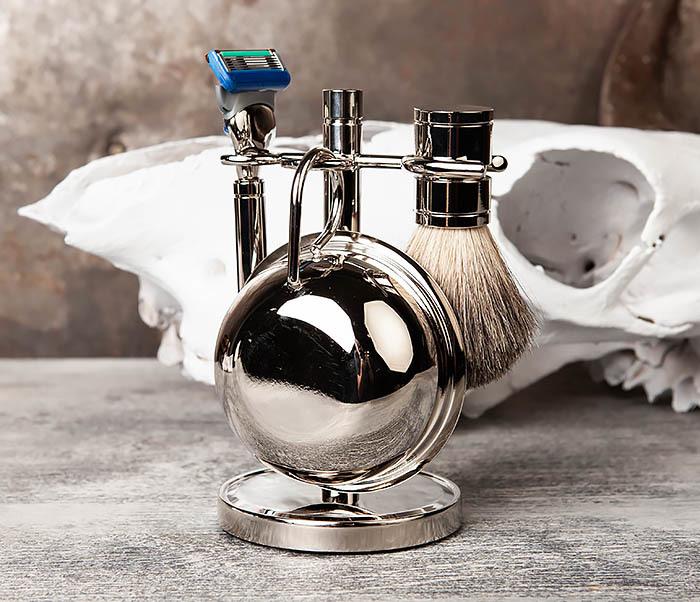 RAZ405 Набор для бритья: чаша, помазок, безопасная бритва фото 04