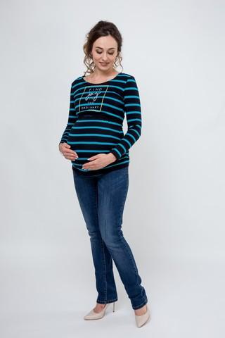 Лонгслив для беременных и кормящих 08916 темно-синий