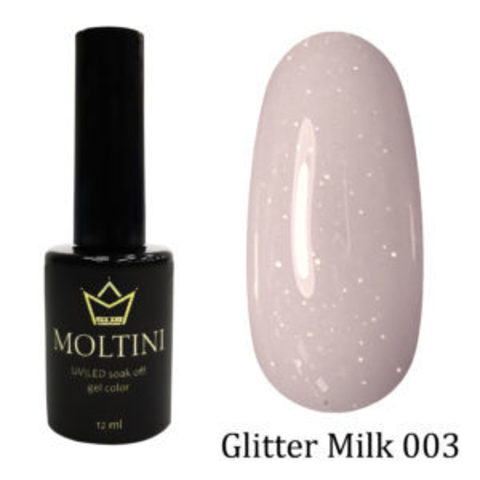 Гель-лак Moltini GLITTER MILK 003, 12 ml