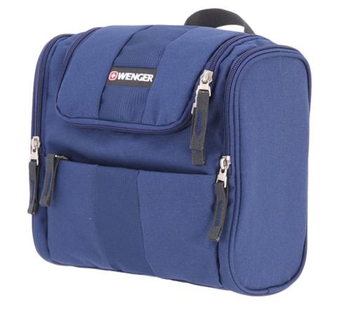 Несессер WENGER, синий, полиэстер, 26х7х23 см
