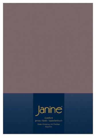 Элитная простыня на резинке Elastic-Jersey 5002 кофе с молоком от Janine