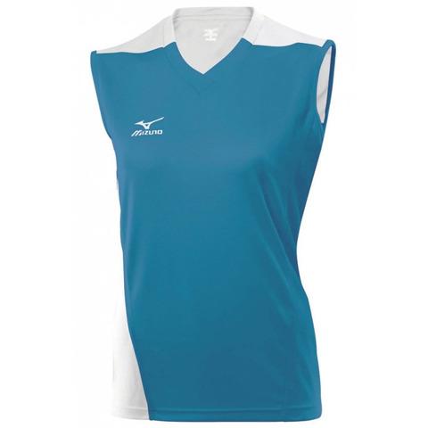 Волейбольная футболка Mizuno Trade SleeveLess женская голубой