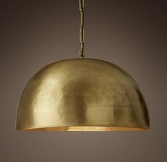 Grand Brass Dome Pendant 30
